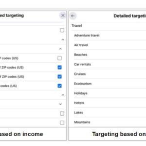 Detailed Targeting on Facebook Ads